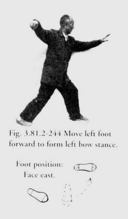 Chen Pan Ling demonstrating Taijiquan posture